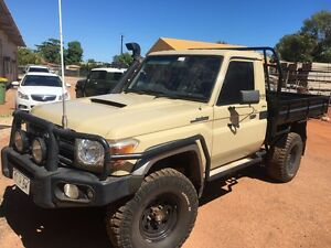 2008 GXL V8 Turbo VDJ79 4WD Landcruiser Trayback Broome Broome City Preview
