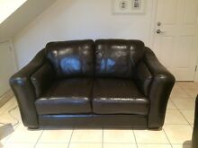 Leather lounge suite Caringbah Sutherland Area Preview