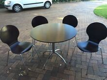 Round dining table with 4 chairs North Balgowlah Manly Area Preview
