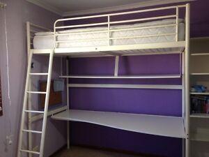 Bed single bunk with desk underneath Peakhurst Hurstville Area Preview