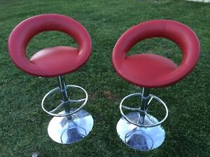 Red Bar Stool x 2 Mount Hutton Lake Macquarie Area Preview
