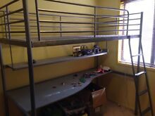 Metal single bunk bed with desk Old Bar Greater Taree Area Preview