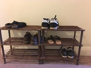2 x wooden shoe racks Wentworth Falls Blue Mountains Preview