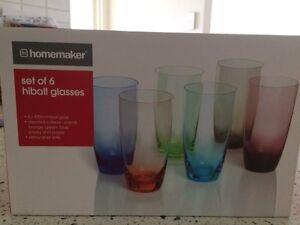 Set of 6 assorted colour glasses Westmead Parramatta Area Preview