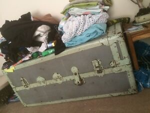 Very large antique sea chest trunk. Suitcase luggage vintage Croydon Maroondah Area Preview