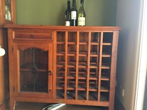 Timber wine rack and display cupboard East Kurrajong Hawkesbury Area Preview