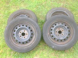 4 wheels ( steel rims plus tyres) 5 stud late model corolla Blacktown Blacktown Area Preview