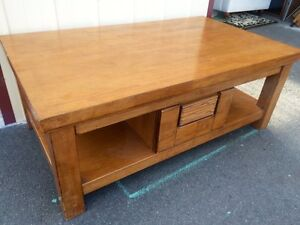 Large wooden coffee table, near new Sandy Bay Hobart City Preview