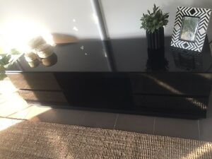TV cabinet - Black gloss finish South Ripley Ipswich City Preview