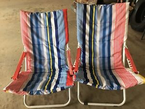 2 x foldable sun chairs sun loungers Glenvale Toowoomba City Preview