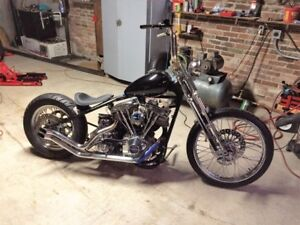 Custom Harley Shovelhead Chopper