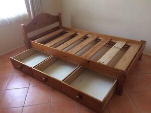 2x single beds with underbed drawers from Bunkers Guildford Parramatta Area Preview