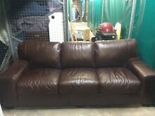 3 seater and 2 seater brown leather sofas from gascoigne Osborne Park Stirling Area Preview