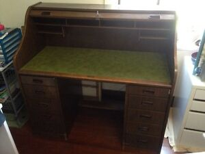 Vintage Roll Top desk Wood Timber Glendalough Stirling Area Preview