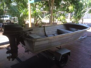 Aluminium boat and outboard for sale Malak Darwin City Preview