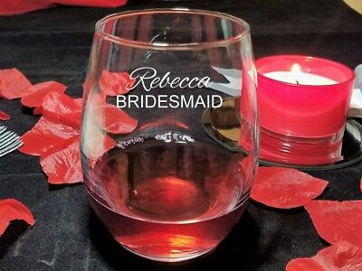 Wedding Party  Stemless Wine Glasses - Wedding Party Glasses