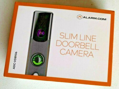 New Alarm.com ADC-VDB106 Wi-Fi Slim Line Bronze Doorbell Camera