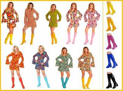 Hippie Girl Groovy Style Retro Kleid Kostüm 60er - 70er Jahre Kleid