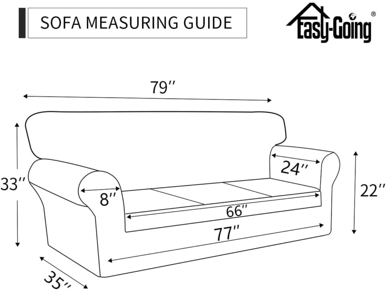 Easy-Going Stretch Sofa – Spandex Soft Fitted