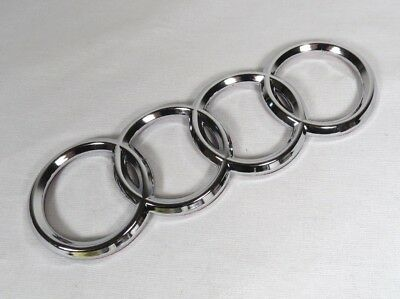 AUDI A4 A6 A3 TT EMBLEM REAR TRUNK CHROME BADGE back sign symbol logo