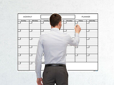 (36x48 Monthly Erasable Blank Reusable Undated 1 Month Wall Calendar Planner)