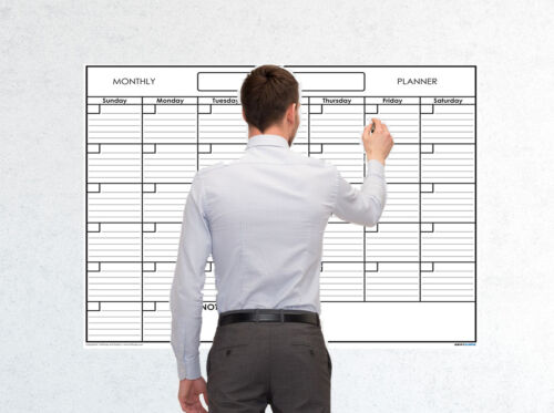 36x48 Monthly Erasable Blank Undated Wall Calendar Home School Academic Planner