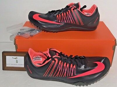 c4e6b089320 Nike Mens Size 12.5 Zoom Celar 5 Track   Field Shoes Black Hot Pink  100