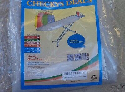 CHECKYS DEALS TABLE TOP SILVER SILICONE IRONING BOARD COVER 12 X 30 - 32 AND PAD