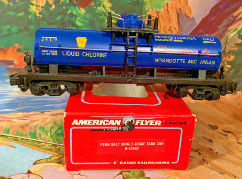 AMERICAN FLYER {RE-ISSUE OF RARE} PENN SALT 1-DOME TANKER, MINT IN BOX!  $69.95