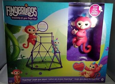 Authentic Fingerlings Jungle Gym Playset With Baby Monkey  Free Shipping