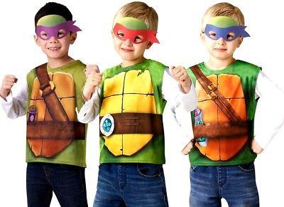 Child TMNT Printed T Shirt + Mask Leonardo Donatello Raphael Turtles Costume - Tmnt T Shirt Kostüm