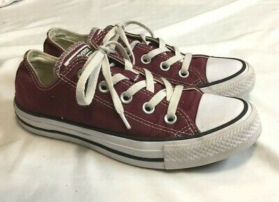 Womens CONVERSE CHUCK TAYLOR OX Low Burgundy Sneakers Size 6