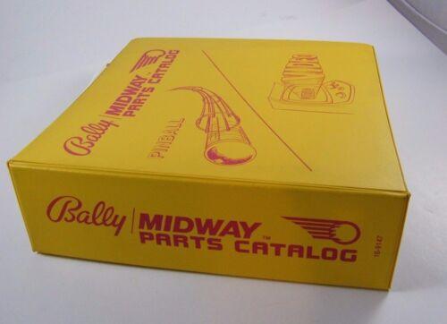 BALLY MIDWAY PINBALL PARTS CATALOG BINDER, NICE SHAPE