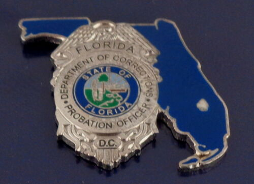 Florida PROBATION OFFICER Corrections STATE SHAPE Mini Badge Lapel Pin FL police
