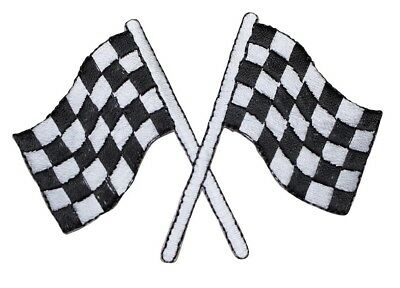 Checkered Racing Flags Applique Patch (Iron - Checkered Racing