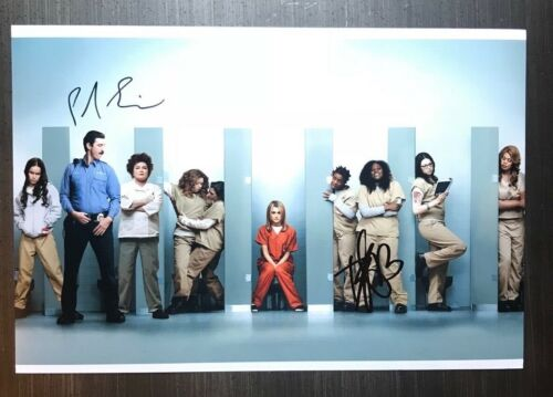 * ORANGE IS THE NEW BLACK * signed 12x18 photo * DANIELLE BROOKS & SCHREIBER * 1