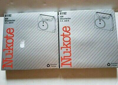 2 Nukote B192 Ibm Wheelwriter 3 5 6 Replacement Ribbon 1337761 Nib Correctable