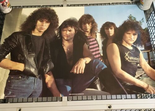 1985 Rebel Rock Queensryche  Poster From England 35X24 Original