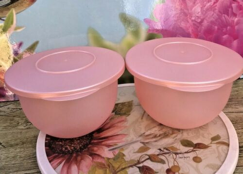 Tupperware Impressions SET OF 2 PEARL 1.3L Bowl with Lid