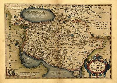 Large A1 Size Persia Iran Middle East Reproduction Old Antique Map by Ortelius