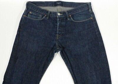 Paul Smith Mens Jeans PSJ Straight Fit Dark Indigo Blue - 32 x 30