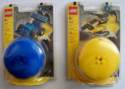 Lot of 2 Lego 4347 Blue X-Pod Vehicles & 4348 Yellow Planes Pod NEW xpod