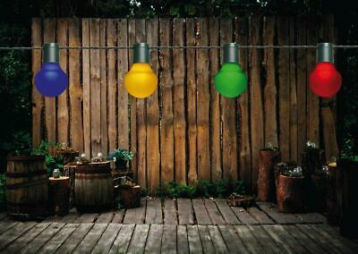 LED Partylichterkette 10m Bunte LEDs 20er Ø 5cm Lichterkette Garten Party Außen