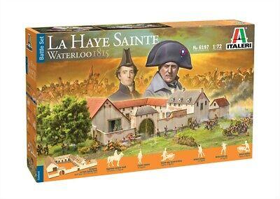 6197 Italeri 1:72, Battle Set Waterloo La Haye Sainte, Modellbausatz unbemalt,Pl