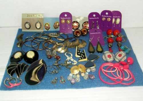 Vintage Lot of  33 Pair Pierced  Earrings