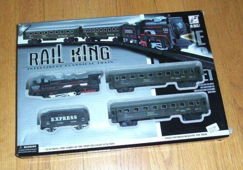 Rail King NIB Intelligent Classical Train Set Light Engine Locomotive Toy NEW