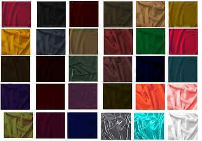 """SILK RAYON VELVET SOLID FABRIC 45""""W COSTUMES, APPAREL,UPHOLSTERY 40COLOR BY YARD"""