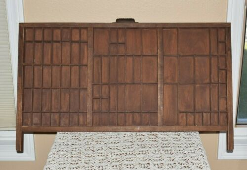 Vintage / Antique  Hamilton Wood Type Set Drawer Great Shadow Box
