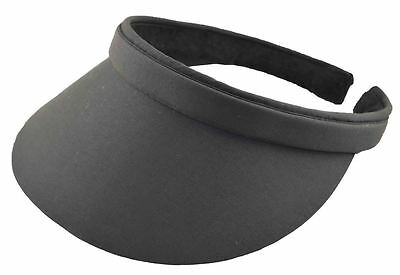 (Cotton Twill Clip-On Visors-black,white,natural,royal blue)