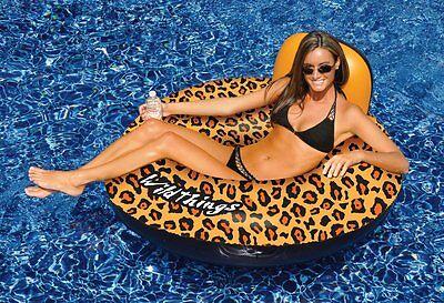 Swimline 90551 Inflatable Swimming Pool Wild Things Cheetah Print Float Toy Raft
